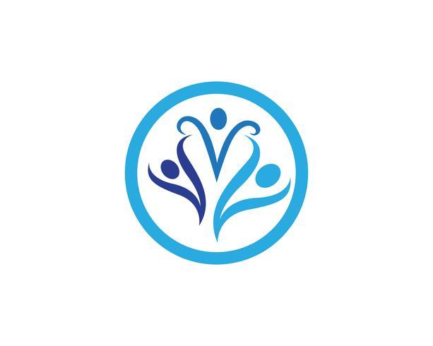 Comunidade pessoas logotipo e símbolos ícones
