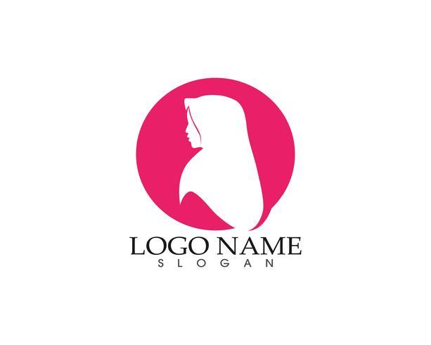 hijab donna sagoma logo e simboli