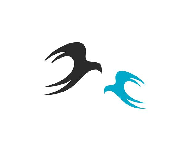vettore dell'icona del modello dell'estratto del segno della mosca dell'uccello