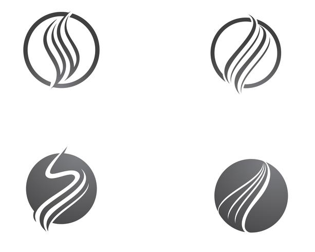 Hair vector icon and logo template