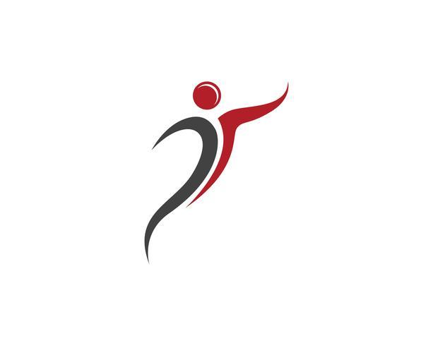 Gesundheitsleute Logo und Symbolschablonenikonen
