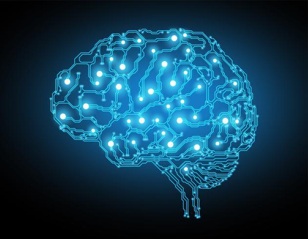 Creative brain concept background vector