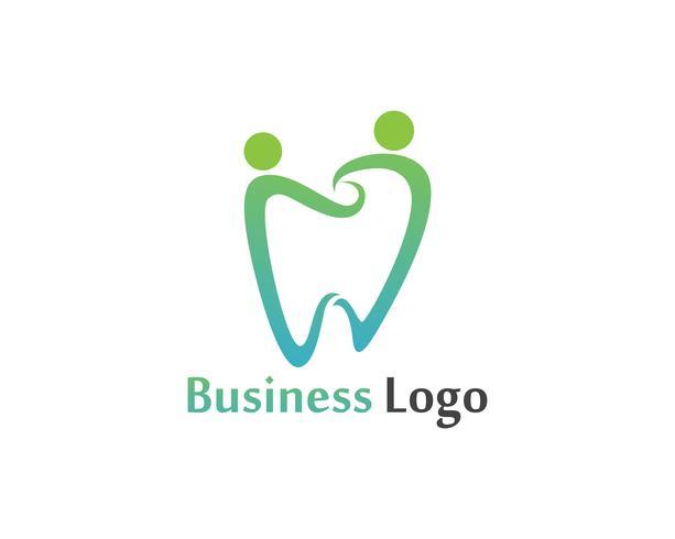 Modelo de vetor de logotipo e símbolos de cuidados dentários
