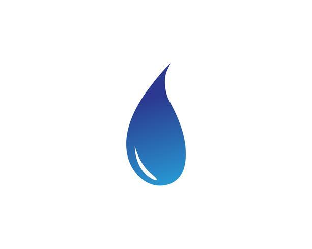 Vettore dell'illustrazione del modello di logo della goccia di acqua