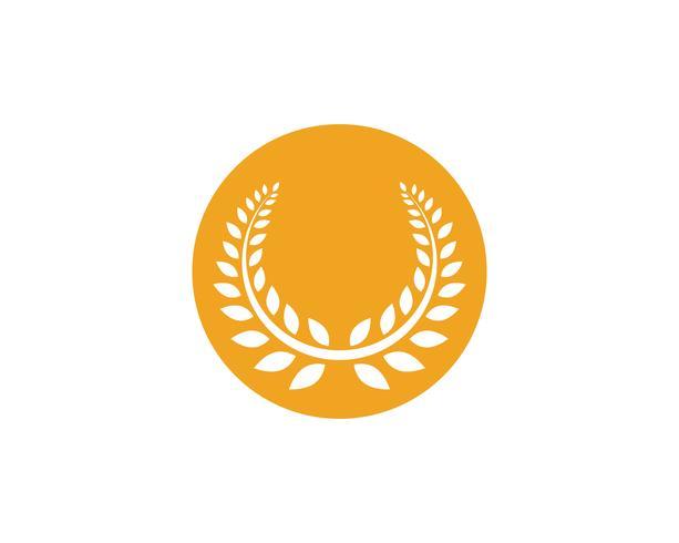 agriculture riz nourriture logo logo et symboles modèle icônes vecteur
