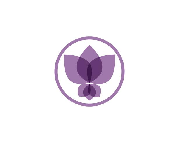 Sinal de flor de lótus para bem-estar, Spa e Yoga