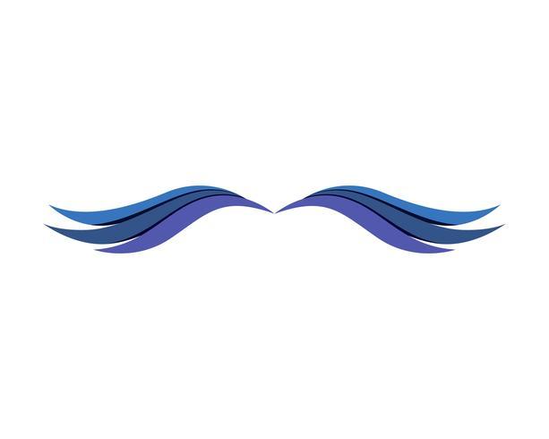 Vleugels prachtige logo en symbolen app-pictogrammen