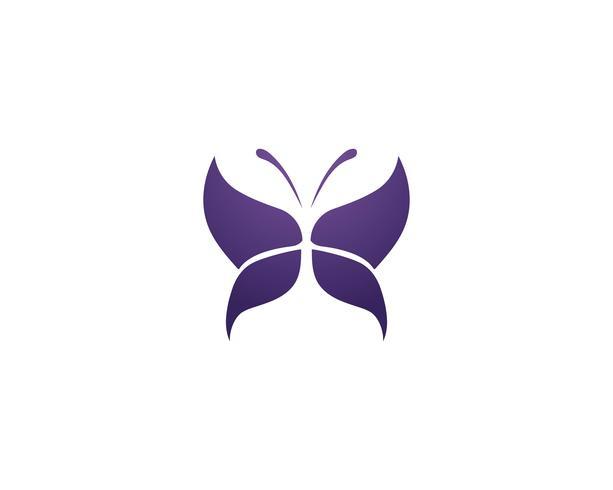 Mariposa conceptual simple, colorida.