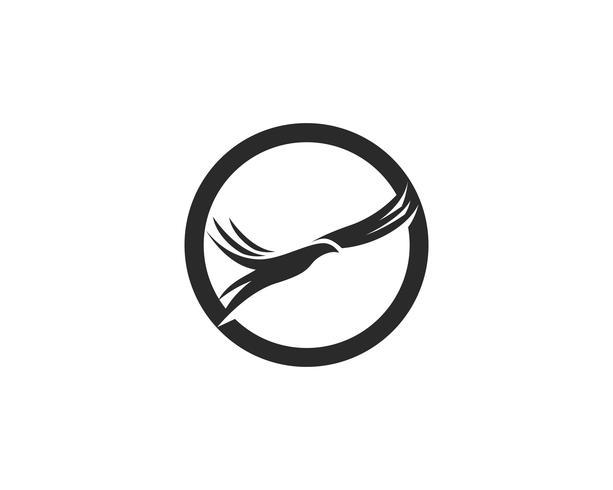 pássaro voar sinal abstrato modelo ícones vetoriais