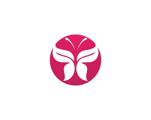 Butterfly konceptuell enkel, färgstark