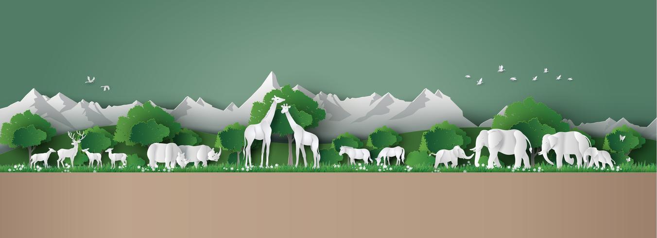 Concepto del Día Mundial de la Vida Silvestre