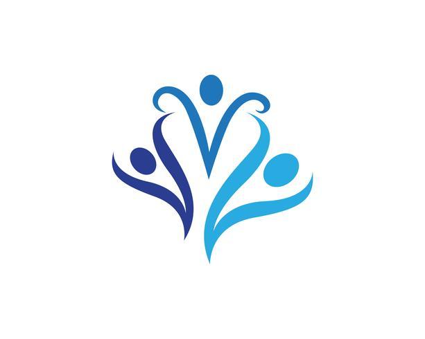 Icone di logo e simboli di persone di comunità vettore