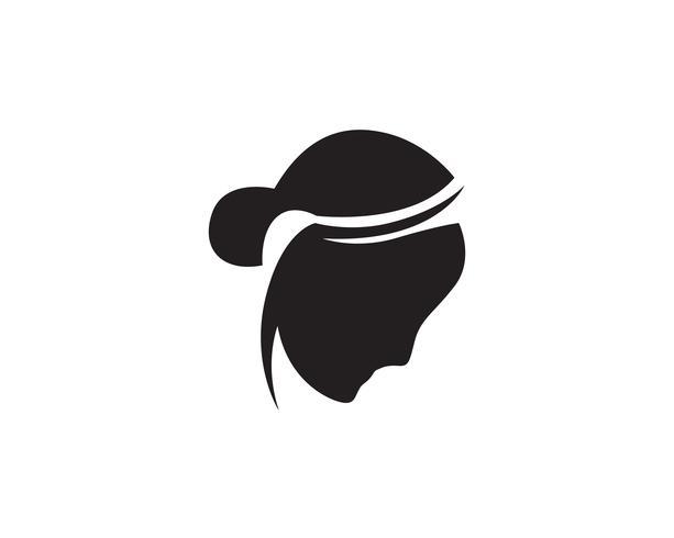 Haar vrouw hoofd logo en symbolen pictogrammen