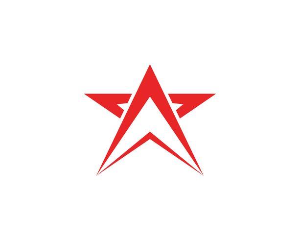 Plantilla de logotipo estrella vector
