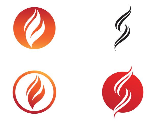Fire flame nature logo and symbols icons template vector
