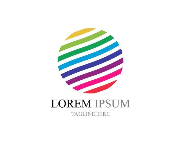Icônes du logo monde fil coloré