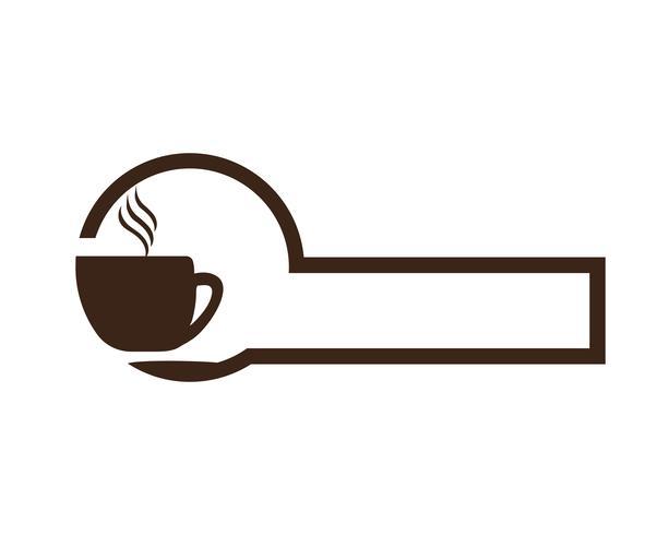 Kaffe logotyp mall vektorikonen
