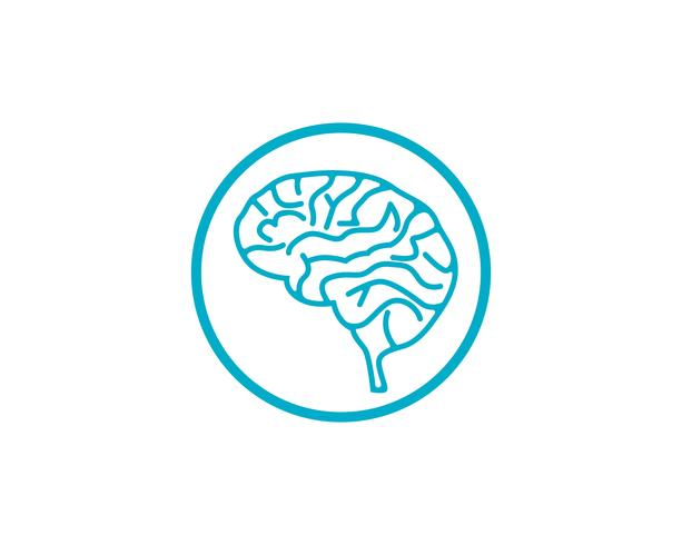 Modèle de logo de cerveau et application des icônes de symboles