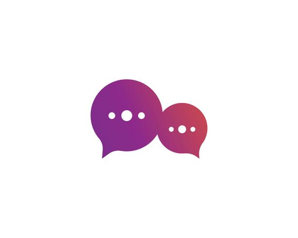 Speech bubble icon Logo template vector illustration
