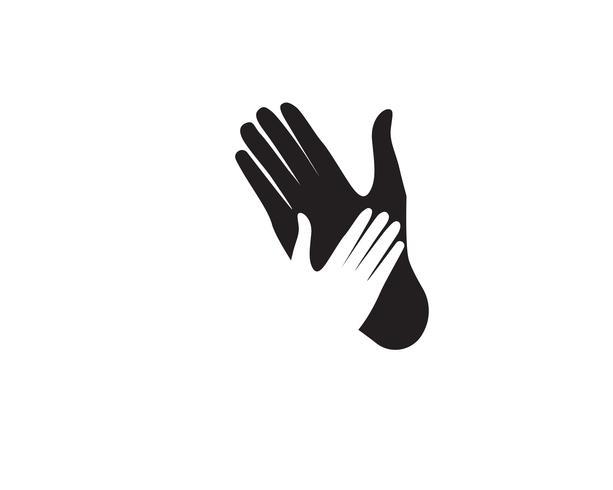 Ayuda mano logotipo y vector plantilla de símbolos