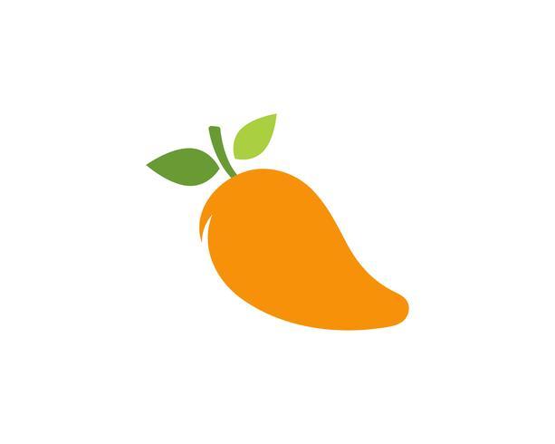 Mangue dans un style plat. Logo vectoriel de mangue. Mangue