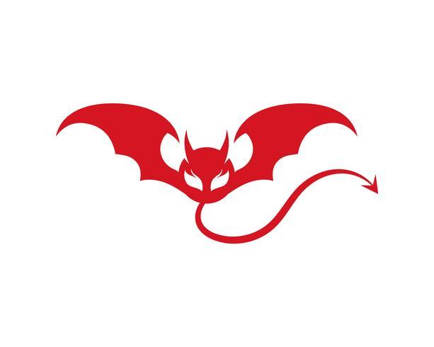 Duivel hoorn Vector pictogram ontwerp illustratie