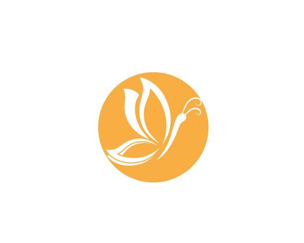 Mariposa Logo plantilla Vector icono diseño vectorial