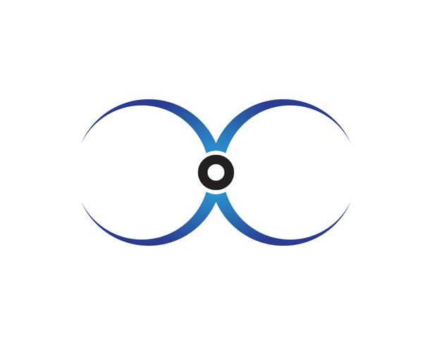 Kreisen Sie Ringlogo und Symbolschablonenikonen ein