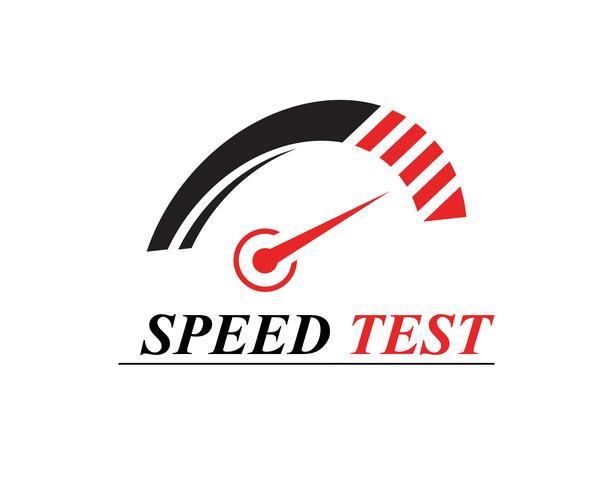 Modelo de logotipo mais rápido vector icon ilustração design