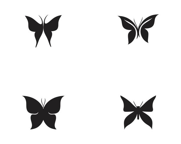 Design de ícone de borboleta de beleza
