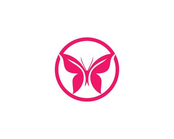 Diseño de icono de mariposa de belleza vector