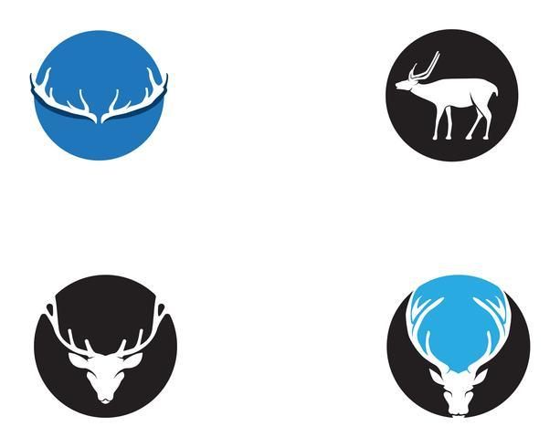 Icone di silhouete nero logo animali testa di cervo