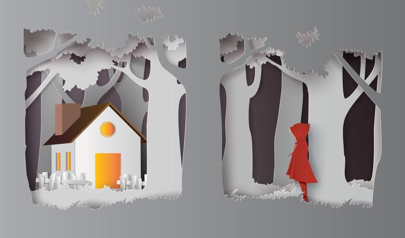 saison d'hiver avec la fille