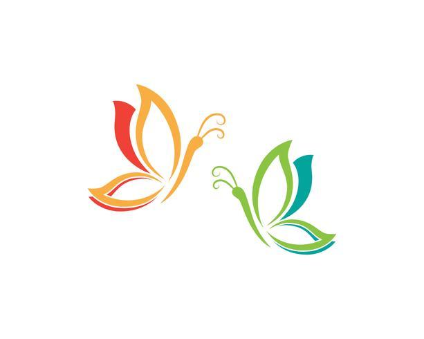 Butterfly Logo Template Vector ikon design vektor