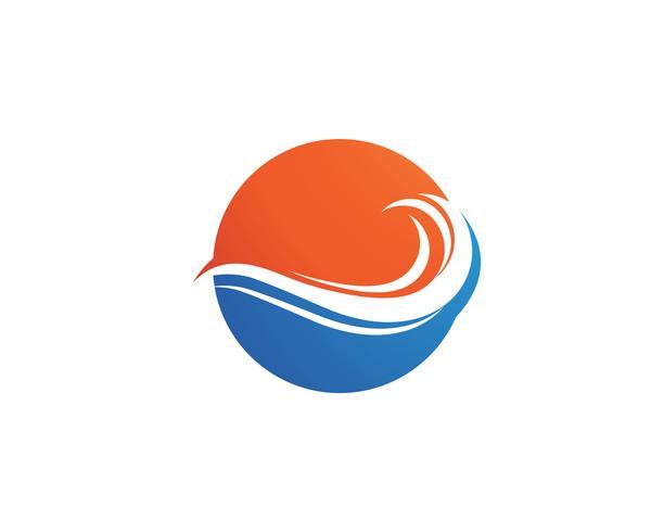 Vetor de modelo de logotipo de onda de água