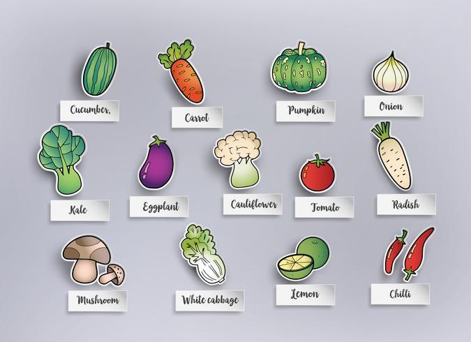 verdure di disegno a mano libera