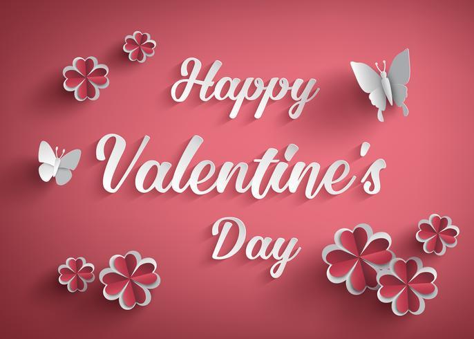 Concept van de dag van de gelukkige Valentijnskaart