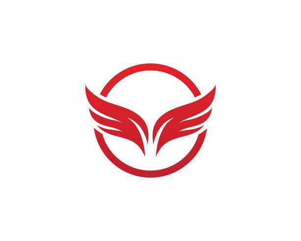 Wing Logo Template-Vektorikonendesignvektor