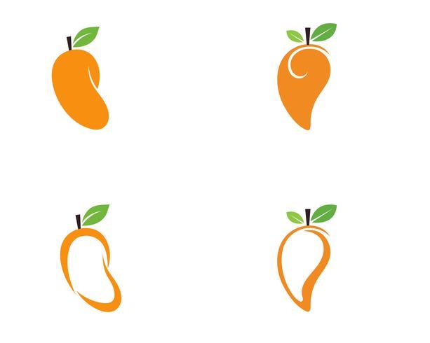 Mango im flachen Stil. Mango-Vektor-Logo. Mango