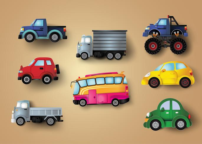 Set van auto's vector