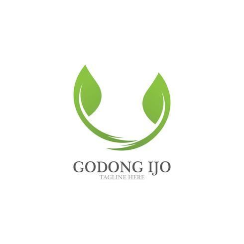 Emblemen van groene bladecologie
