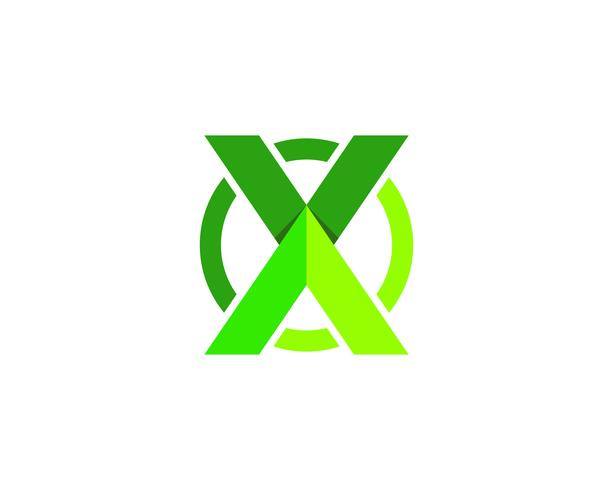 X Letter Logo Template vector icon