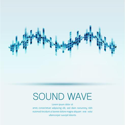 Abstract digital equalizer,Creative design sound wave pattern.