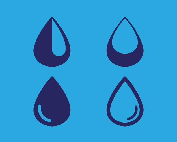 Vatten droppe logotyp mall illustration vektor