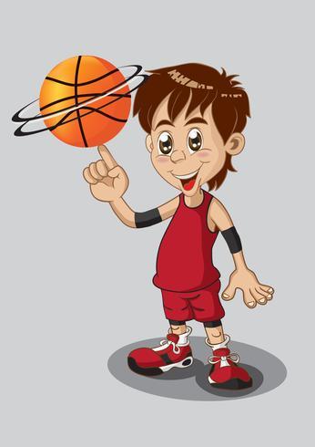 Jogador de basquete isolado no branco