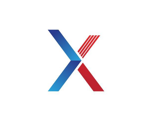 Icône de vecteur X lettre Logo Template