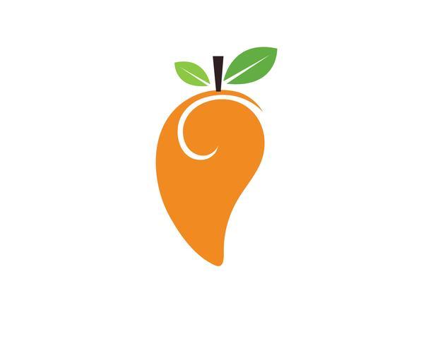 Mango in vlakke stijl. Mango vector logo. Mango