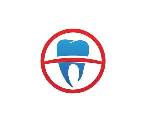 Tandheelkundige logo sjabloon vectorillustratie