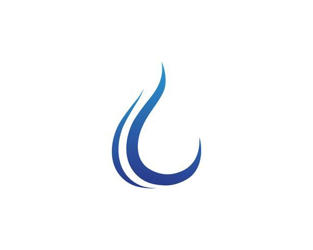 Gota de água logotipo modelo ilustração vector