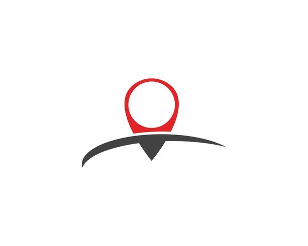 Locatie punt Logo vector sjabloon